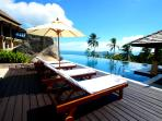 Sunbathe at Samui Ridgeway,sunken pool bar,kids pool,sunset bbq and cocktails from on site chefs