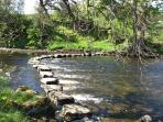 Stepping stones 200m from Bothy to Bolton Castle.