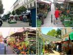KUTSCHKERMARKT:  Farmer's market in Kutschkergasse, 5 mins walking distance