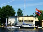 Boathouse; Het Waternest on lake site;, 20 km from Amsterdam , 10 km form Leiden