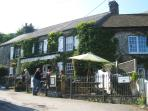 The charming 17th century Bolingey Inn a short walk from the property