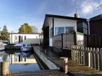 """""""Langton's View"""" has beautiful views over the peaceful private marina and onto the River Bure."""