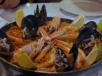 The famous Paella Dish served in most resturants around the area.