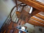 beautiful spiral staircase (view from the main room)