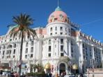 The famous Negresco Hotel, just moments from the apartment.