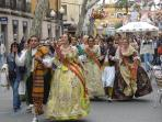 The Fallas Queens. Las Fallas take place every 19th of March