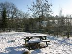 Bit chilly for Alfresco dining!