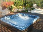 Hot Tub and decking, new in November 2010. Fab with a glass or two of champagne!!!