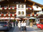 'The Happy Filzmoos' in the centre of the village is great for lunch or dinner and all gen