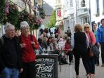 Stroll to the charming Fore Street full of lovely pubs, restaurants and bistros