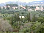 Countryside around with Villa Diana in centre.