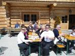 Enjoy lunch in a mountain alm - 40 mins walk or 5 min chair lift from  centre of the village