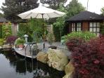 Ein herrlicher Platz um zu Entspannen, der schöne Japangarten mit dem großen Koiteich.