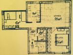 Der Grundriss unserer 70 qm Ferien-Wohnung