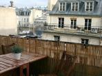 La terrasse - vue sur Beaubourg,  le haut de Notre Dame, la Conciergerie, la Tour St Jacques...