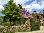 Entrada Finca espacio natural en la frontera con Portugal