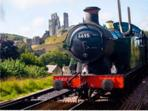 Swanage Steam Railway with Corfe Castle