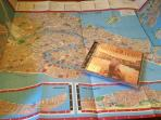 Our welcome package: a map of Venice and cd of Venetian music