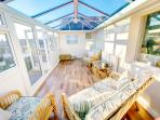 Conservatory ideal sunny room for relaxing