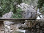 A local walk by a mountain stream with many rockpools and waterfalls.