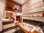 A large Jacuzzi bath tub in the Master Suite