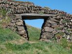 Cornish wall for sheep access