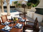 Al Fresco Lunch with Gas and Cypriot BBQ - enjoy a glass of wine or two