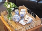 A warm welcome and cream tea awaits you at Thyme Cottage.