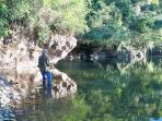 THe River is only a short hike or drive away and provides ample fishing, swimming, or just relaxing