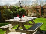 Relax in Beudy,s private fully enclosed garden