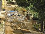 Terrace of Gite des Cathares - Couiza, Languedoc-Roussillon