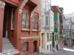 Typical Balat houses in the neighbourhood