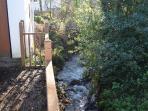 Stream running below the cottage