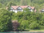 View of villa from Lake Annecy
