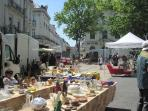Saumur lively antiques market on the 4th Sunday of every month