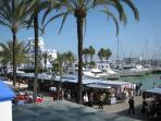 Sunday market at Estepona Marina -in February !