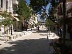 Pedestrian shopping way in Agios Nikolaos