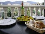 Paella on the balcony!