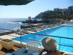 Local swimming pool, Reid's Hotel + access to the sea
