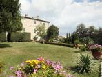 Large garden and the old villa