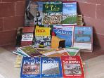 some tourist guide books