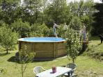 Splash pool among the fruit trees