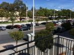 parking vu du balcon
