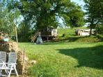 Huge split level garden with tree house and rope swing and great views all around
