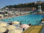Monaco Olympic 50 metre swimming pool and sun terrace