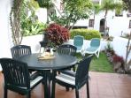 Sunny garden and terrace for alfresco dining