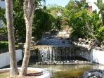 Waterfalls and turtle pool