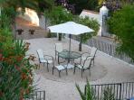 Lower garden dining terrace