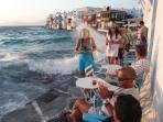 The famous Caprise in Little Venice - Mykonos Town