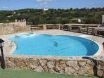 Swimming pool with amazing view, 20 metres from the villa and is used by only a few residents